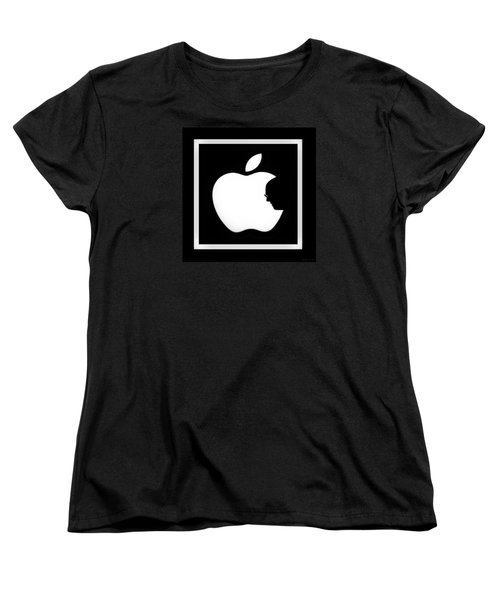 Steve Jobs Apple Women's T-Shirt (Standard Cut)
