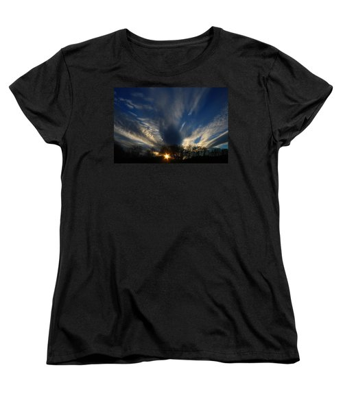 Sundown Skies Women's T-Shirt (Standard Cut) by Kathryn Meyer