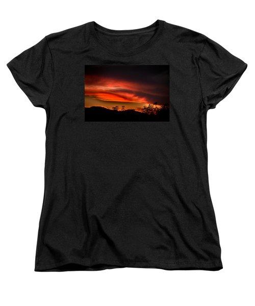 Sunset Women's T-Shirt (Standard Cut) by Alessandro Della Pietra