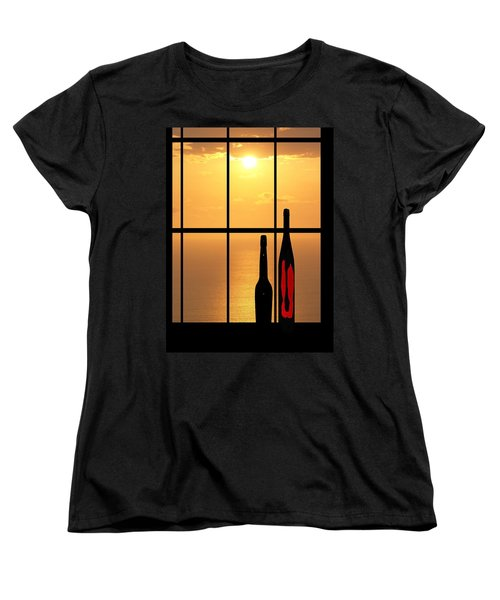 Women's T-Shirt (Standard Cut) featuring the photograph Sunset In Hawaii by Athala Carole Bruckner