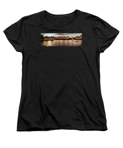 Sunset On The Boardwalk Walt Disney World Mp Women's T-Shirt (Standard Cut) by Thomas Woolworth