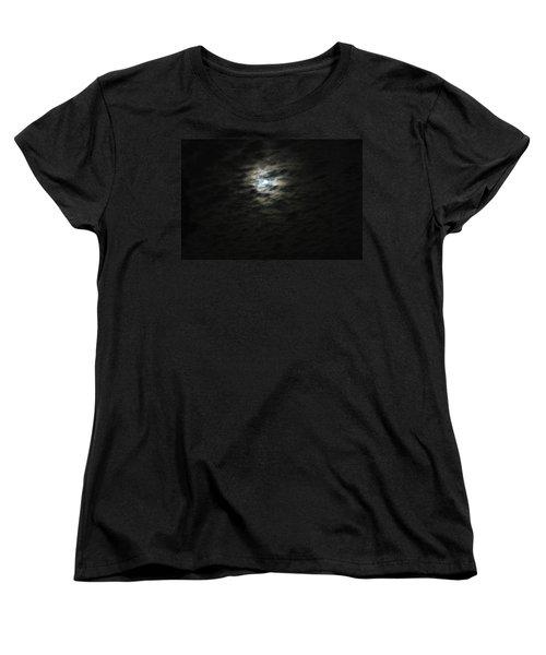 Women's T-Shirt (Standard Cut) featuring the photograph super moon II by Irma BACKELANT GALLERIES
