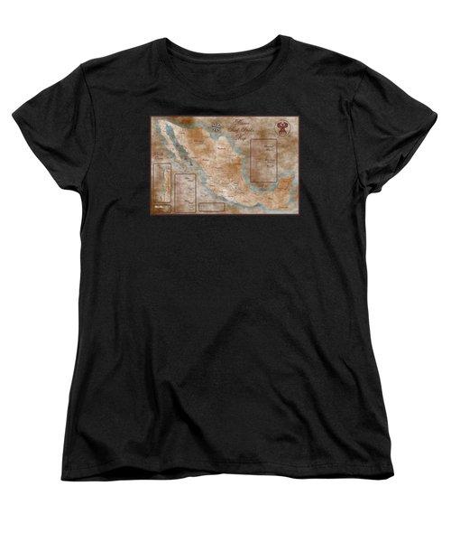 Mexico Surf Map  Women's T-Shirt (Standard Cut)