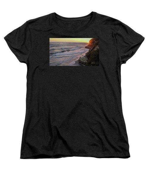 Swamis Sunset Women's T-Shirt (Standard Cut) by Mark Barclay