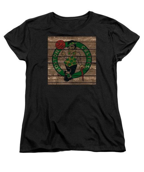 The Boston Celtics 1e Women's T-Shirt (Standard Cut) by Brian Reaves