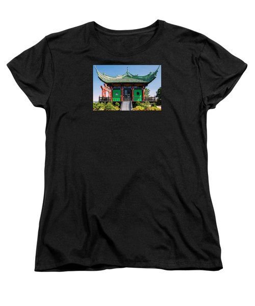 The Chinese Tea House Women's T-Shirt (Standard Cut) by Sabine Edrissi