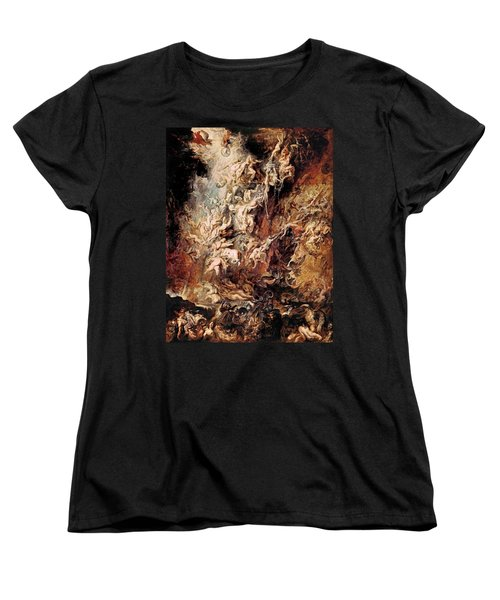 Women's T-Shirt (Standard Cut) featuring the painting The Fall Of The Damned by Peter Paul Rubens