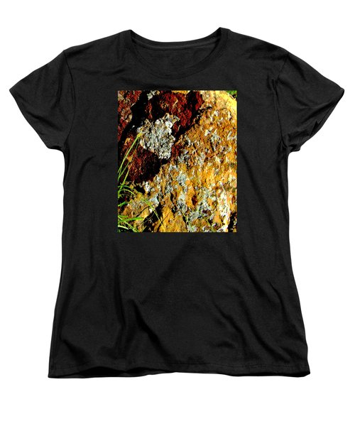 Women's T-Shirt (Standard Cut) featuring the photograph The Rock by Lenore Senior