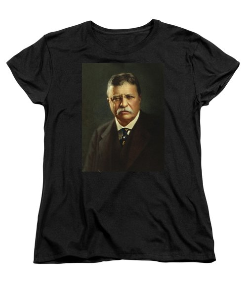 Theodore Roosevelt - President Of The United States Women's T-Shirt (Standard Cut) by International  Images
