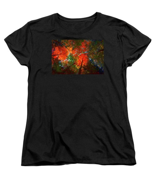 Tree Tops Women's T-Shirt (Standard Cut) by David Stasiak