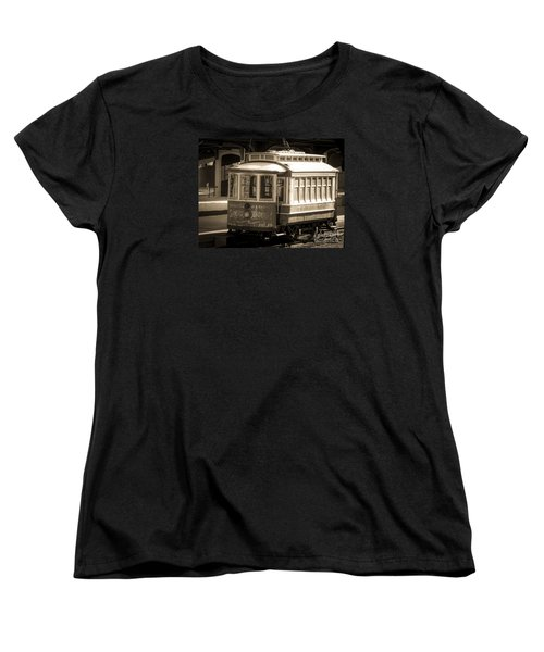 Women's T-Shirt (Standard Cut) featuring the photograph Vintage Train Trolley by Melissa Messick