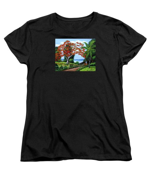 Tropical Landscape Women's T-Shirt (Standard Cut) by Luis F Rodriguez