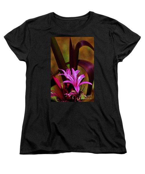 Tropical Lily Women's T-Shirt (Standard Cut) by Craig Wood