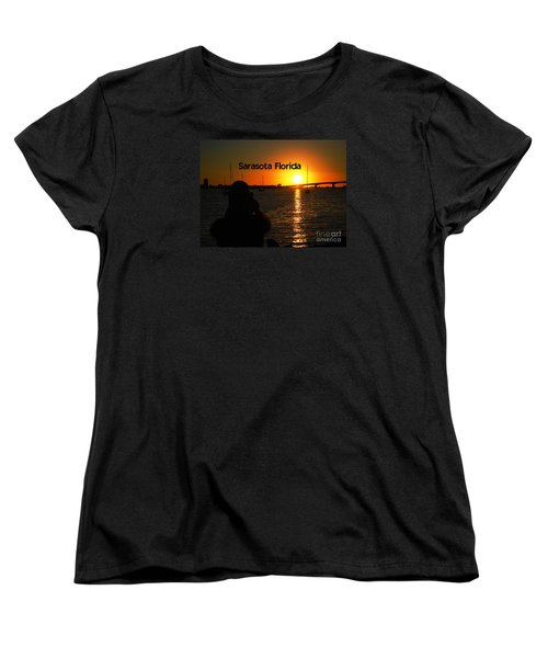 Women's T-Shirt (Standard Cut) featuring the photograph Tropical Sunset by Gary Wonning