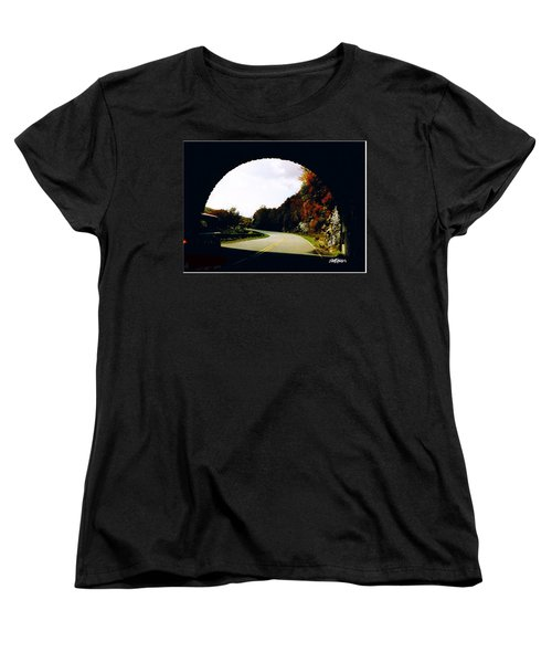 Tunnel Vision Women's T-Shirt (Standard Cut) by Seth Weaver