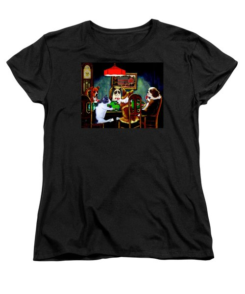 Under The Table Women's T-Shirt (Standard Cut) by Ron Chambers