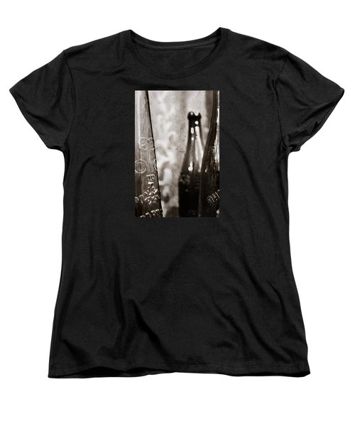 Women's T-Shirt (Standard Cut) featuring the photograph Vintage Beer Bottles. by Andrey  Godyaykin