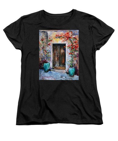 Women's T-Shirt (Standard Cut) featuring the painting Welcome by Jennifer Beaudet