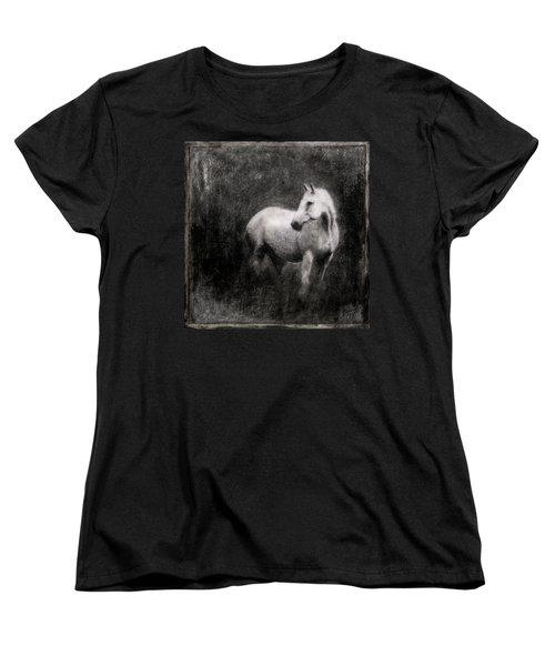 White Horse Women's T-Shirt (Standard Cut) by Roseanne Jones