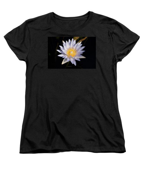 Women's T-Shirt (Standard Cut) featuring the photograph White Water Lily by Steve Stuller