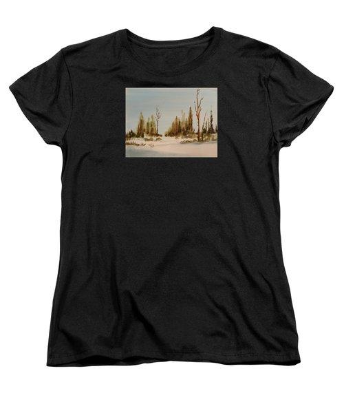 Winter Morning Women's T-Shirt (Standard Cut) by Larry Hamilton