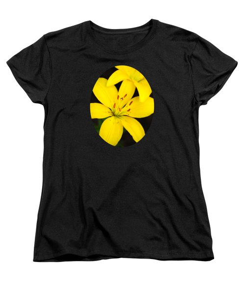 Yellow Lily Flower Women's T-Shirt (Standard Cut) by Christina Rollo