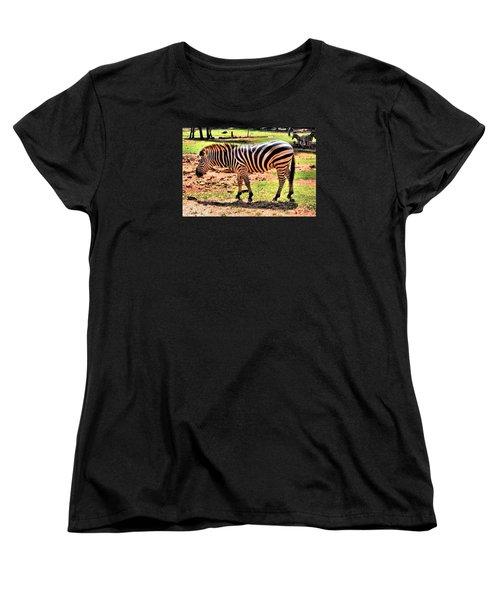 Zebra Women's T-Shirt (Standard Cut) by James Potts