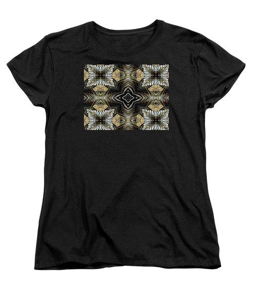 Zebra V Women's T-Shirt (Standard Cut) by Maria Watt