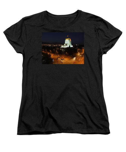 Women's T-Shirt (Standard Cut) featuring the photograph 12th And Cambie 1 by Mark Alan Perry