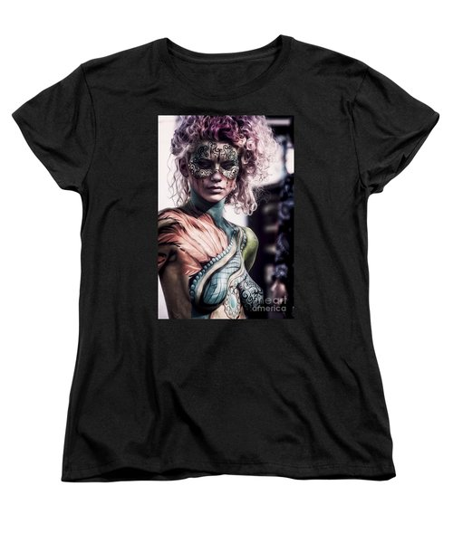 Bodypainting Women's T-Shirt (Standard Cut) by Traven Milovich