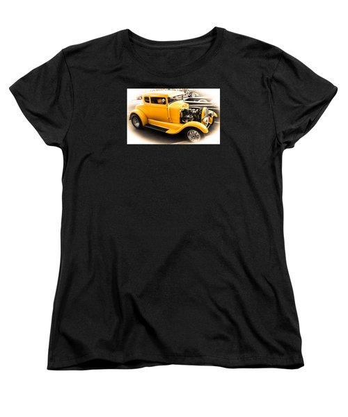 Vintage Car Women's T-Shirt (Standard Cut) by Mickey Clausen