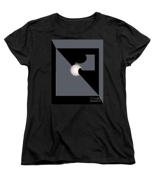 Women's T-Shirt (Standard Cut) featuring the digital art 1354-2  2017 by John Krakora