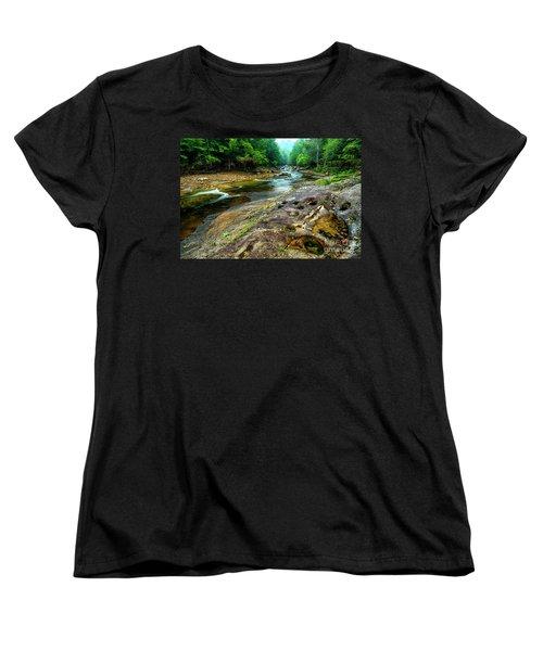 Women's T-Shirt (Standard Cut) featuring the photograph Williams River Summer by Thomas R Fletcher