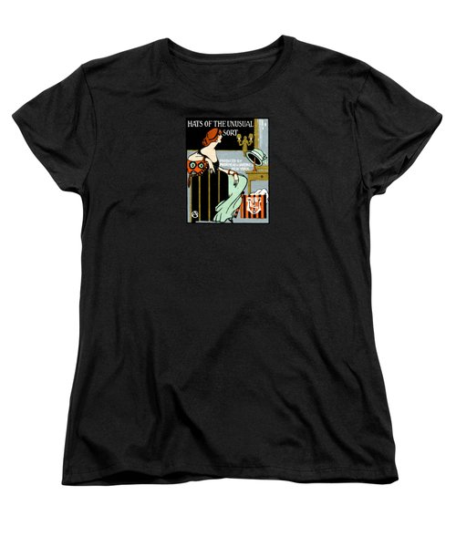 1920 Hats Of The Unusual Sort Women's T-Shirt (Standard Cut) by Historic Image