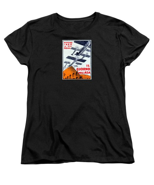 Women's T-Shirt (Standard Cut) featuring the painting 1930 Italian Air Show by Historic Image