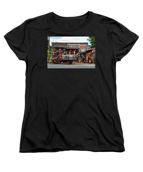 1930s Gas Station And Garage Women's T-Shirt (Standard Cut) by Ansel Price