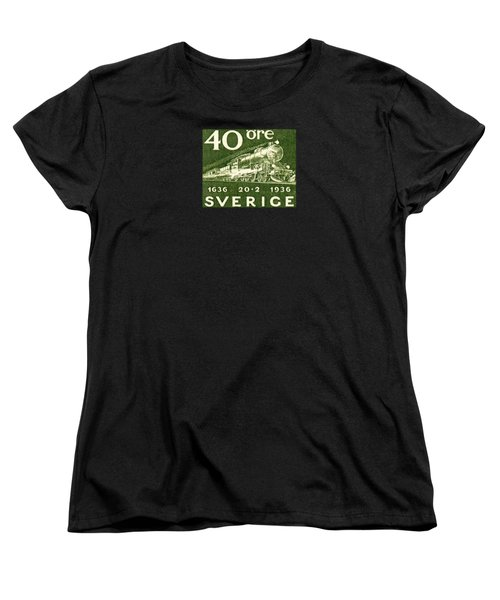 1936 Swedish Railroad Stamp Women's T-Shirt (Standard Cut) by Historic Image