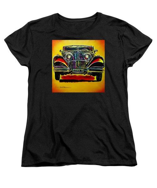1937 Mercedes Benz First Wheel Down Women's T-Shirt (Standard Cut) by Eric Dee