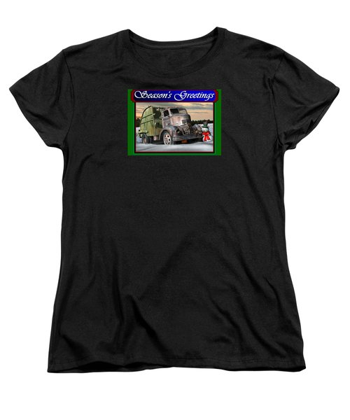 1940 Gmc Christmas Card Women's T-Shirt (Standard Cut) by Stuart Swartz