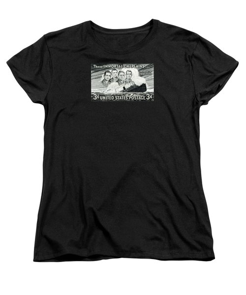 1948 Immortal Chaplains Stamp Women's T-Shirt (Standard Cut) by Historic Image