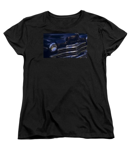 1949 Plymouth Deluxe  Women's T-Shirt (Standard Cut) by Cathy Anderson