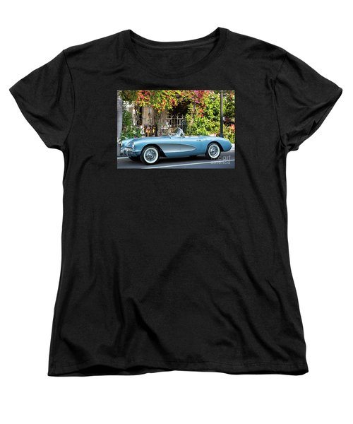 Women's T-Shirt (Standard Cut) featuring the photograph 1957 Corvette by Brian Jannsen