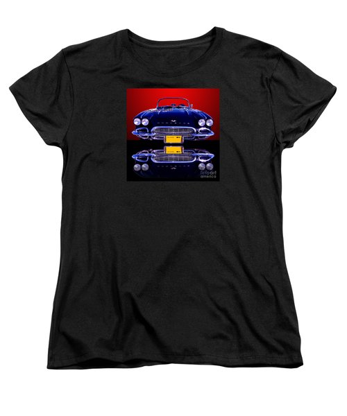 1961 Chevy Corvette Women's T-Shirt (Standard Cut) by Jim Carrell
