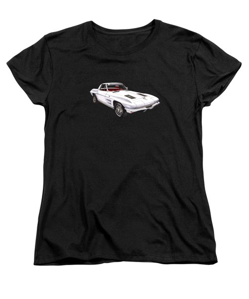 Corvette Sting Ray 1963 Women's T-Shirt (Standard Cut) by Jack Pumphrey