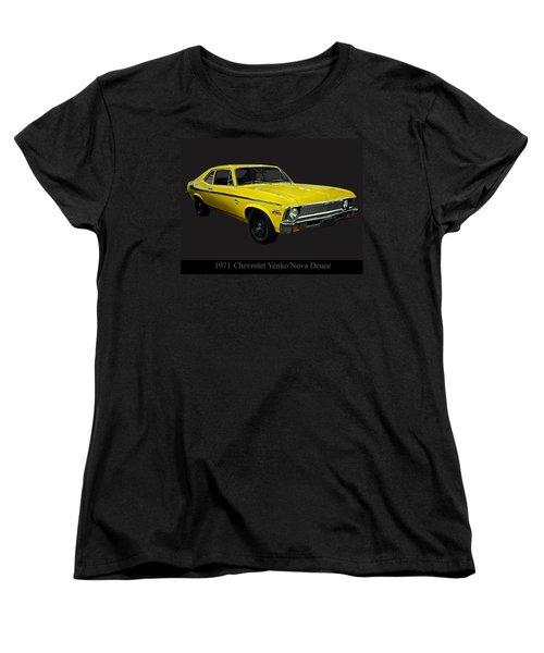 1971 Chevy Nova Yenko Deuce Women's T-Shirt (Standard Cut) by Chris Flees
