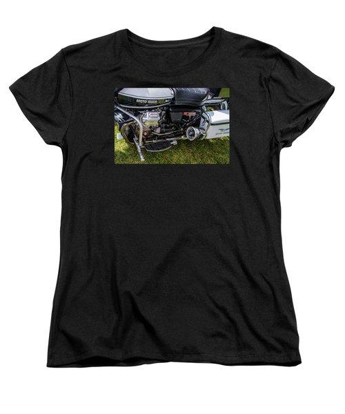 Women's T-Shirt (Standard Cut) featuring the photograph 1976 Motto Guzzi V1000 Convert by Roger Mullenhour