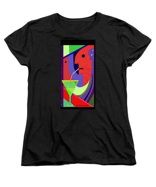 Women's T-Shirt (Standard Cut) featuring the digital art 1979 - Party Pop 2017 by Irmgard Schoendorf Welch