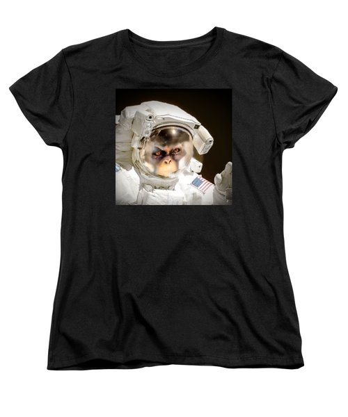 1st Into Space  Women's T-Shirt (Standard Cut) by Scott French