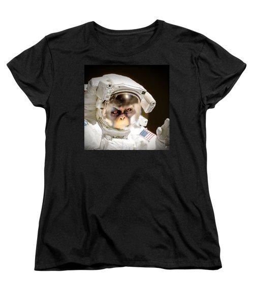 1st Into Space  Women's T-Shirt (Standard Cut)