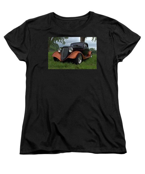 1934 Ford Hot Rod Coupe Women's T-Shirt (Standard Cut) by Tim McCullough